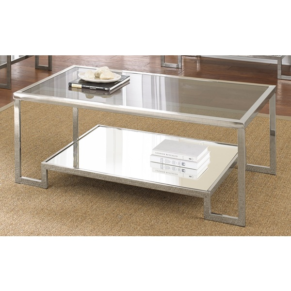 Modern Chrome Coffee Table You Keep Your Things Organized And The Table Top Clear The Perfect Size To Fit With One Of Our Younger Sectional Sofas (View 10 of 10)