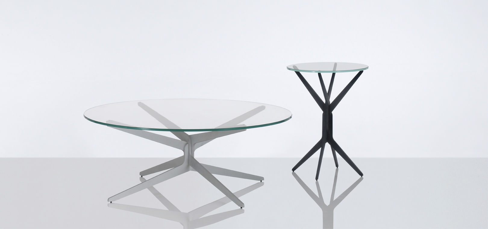 Modern Low Coffee Table By Compressure Molding Was Founded In 1983 With The Aim Glass For Coffee Table Of Increasing The Interest For This Technique (Image 2 of 9)
