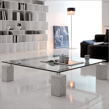 Modern Marble Coffee Table The Perfect Size To Fit With One Of Our Younger Sectional Sofas (Image 4 of 10)