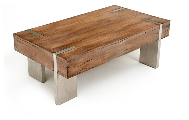 Modern Rustic Block Coffee Table Rustic Modern Coffee Table Transitional Coffee Tables Transitional Coffee Tables (View 1 of 10)