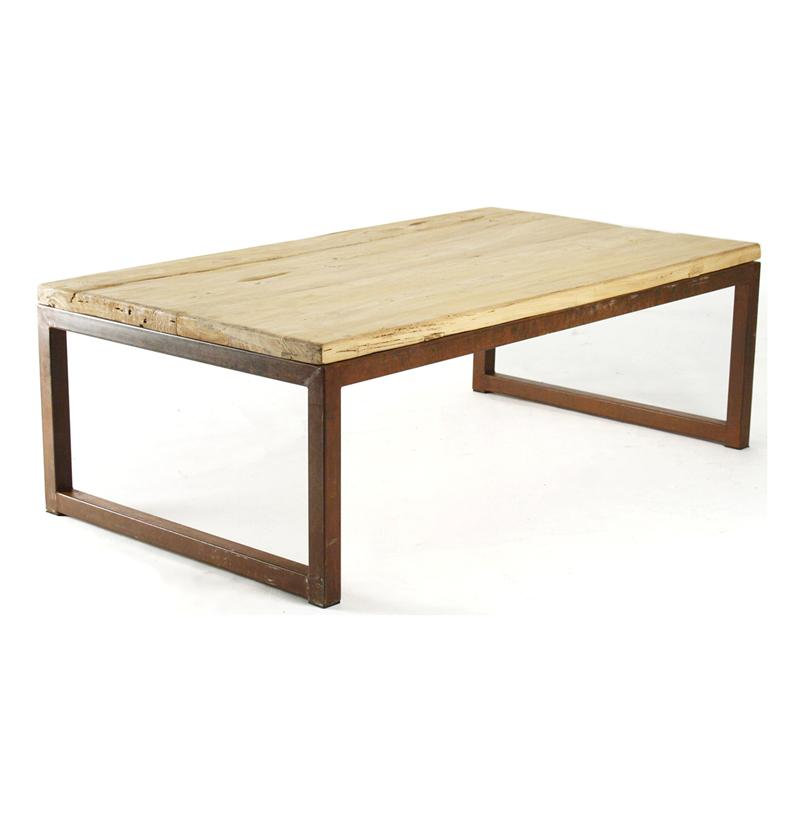Modern-Rustic-Reclaimed-Elm-Wood-Rectangle-Coffee-Table-Modern-Rustic-Coffee-Table-with-iron-leg (Image 5 of 10)