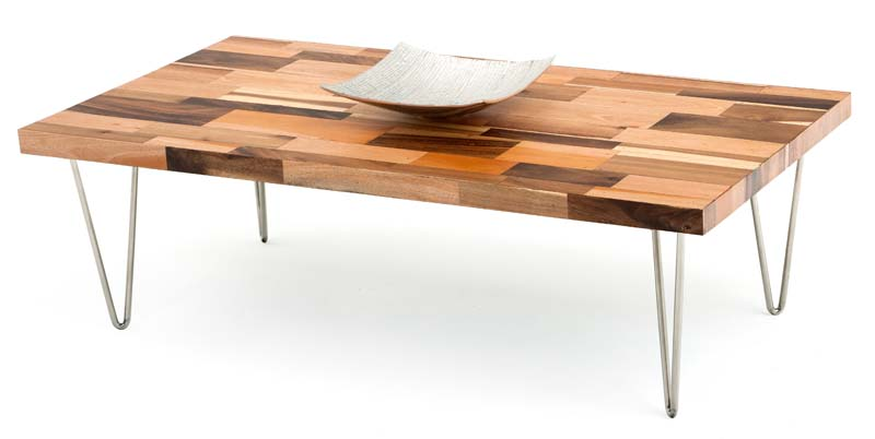 Modern Rustic Wood Coffee Table With Stainless V Legs Rustic Coffee Table Legs (View 4 of 7)