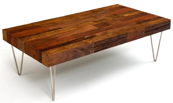 Modern Rustic Wood Coffee Table With Stainless On Base Rustic Modern Coffee Table Images Ideas (View 4 of 10)