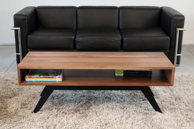 Modern Wood Coffee Table Reclaimed Metal Mid Century Round Natural Diy All Cool (Image 6 of 10)