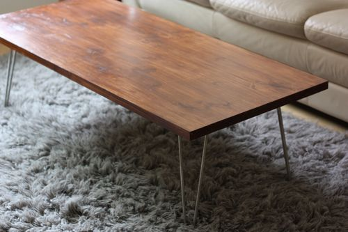 Modern Wood Coffee Table Reclaimed Metal Mid Century Round Natural Diy All Modern Coffee Table Legs Ideas (View 9 of 10)