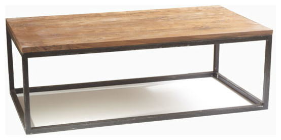Modern-wood-coffee-table-reclaimed-metal-mid-century-round-natural-diy-All-modern-coffee-tables-cheap-cool (Image 4 of 10)