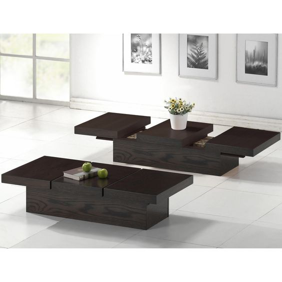Modern Wood Coffee Table Reclaimed Metal Mid Century Round Natural Diy All Modern Coffee Tables Overstock Sample (Image 9 of 10)