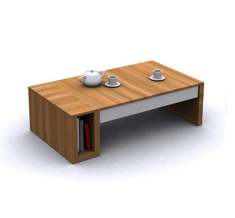 Modern Wood Coffee Table Reclaimed Metal Mid Century Round Natural Diy All Modern Style Coffee Tables Large (Image 10 of 10)