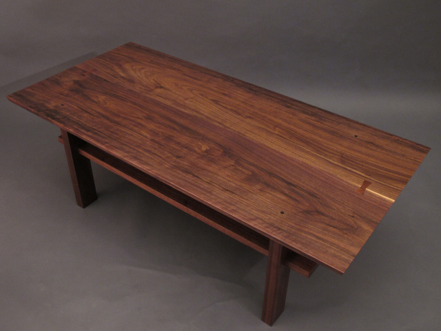 Modern-wood-coffee-table-reclaimed-metal-mid-century-round-natural-diy-All-modern-walnut-coffee-table-main (Image 7 of 10)