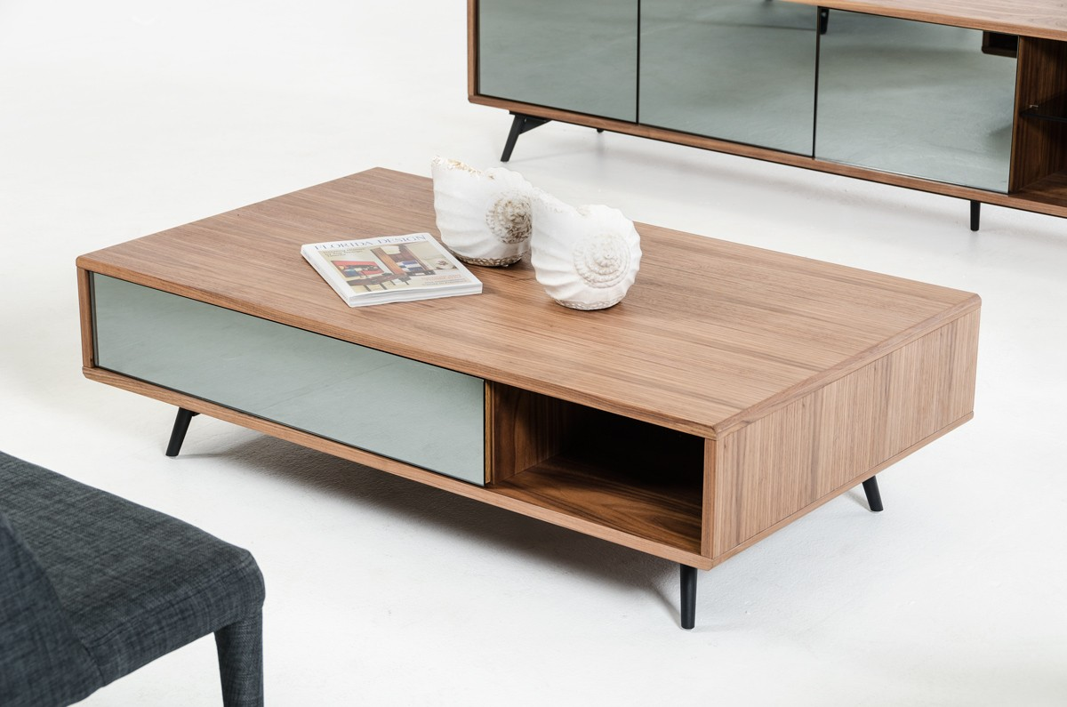 Modern-wood-coffee-table-reclaimed-metal-mid-century-round-natural-diy-All-modern-walnut-coffee-table-miami (Image 8 of 10)