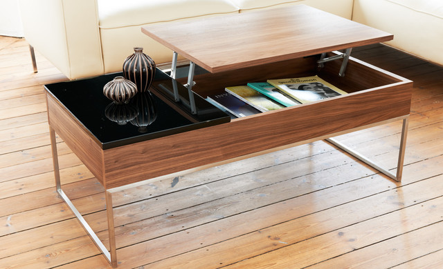 Modern-wood-coffee-table-reclaimed-metal-mid-century-round-natural-diy-All-modern-walnut-coffee-table (Image 3 of 10)