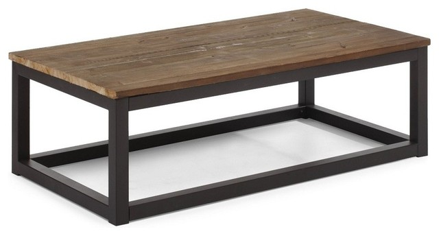 Modern-wood-coffee-table-reclaimed-metal-mid-century-round-natural-diy-Contemporary-Modern-Metal-coffee-table-free (Image 5 of 10)