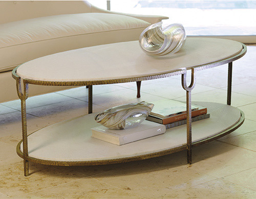 Modern Wood Coffee Table Reclaimed Metal Mid Century Round Natural Diy Contemporary Oval Modern Coffee Table Iron (Image 8 of 10)