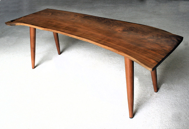 Modern Wood Coffee Table Reclaimed Metal Mid Century Round Natural Diy Contemporary Coffee Table Mid Century Modern Design (View 4 of 10)
