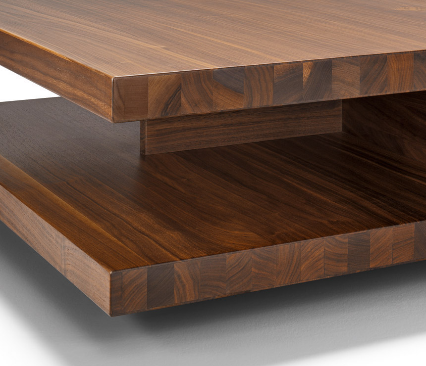 Modern-wood-coffee-table-reclaimed-metal-mid-century-round-natural-diy-Contemporary-luxury (Image 7 of 10)