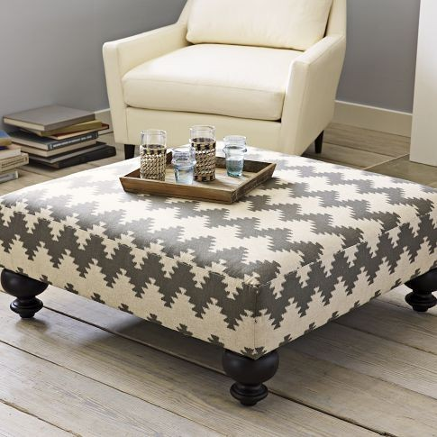 Modern Wood Coffee Table Reclaimed Metal Mid Century Round Natural Diy Contemporary Ottomans For Coffee Tables Detail (View 4 of 10)