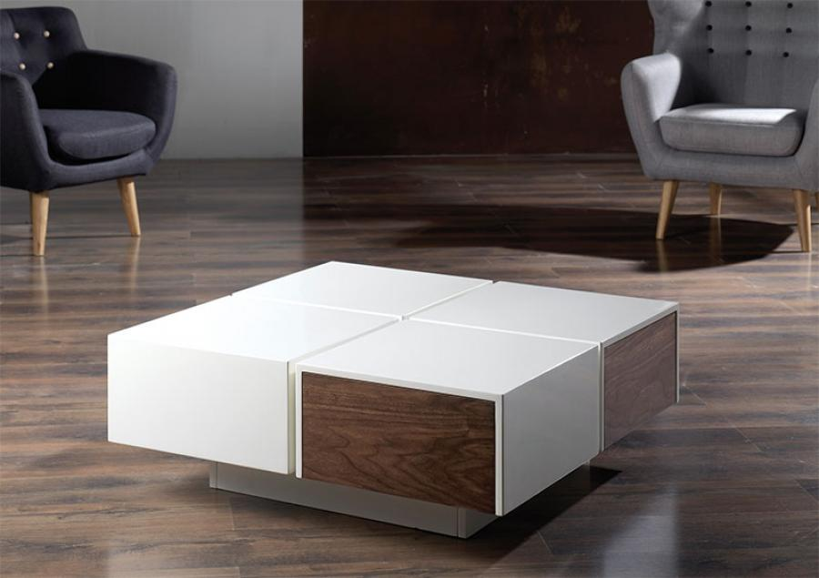 Modern Wood Coffee Table Reclaimed Metal Mid Century Round Natural Diy Modern Square Coffee Tables Main (Image 8 of 10)