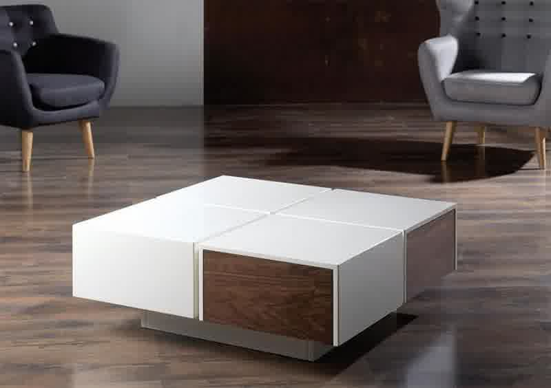 Modern Wood Coffee Table Reclaimed Metal Mid Century Round Natural Diy Padded Contemporary Ottoman Coffee Table (View 2 of 10)