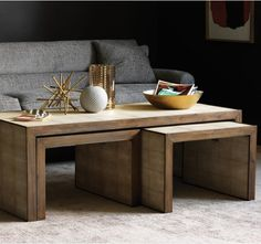 Modern Wood Coffee Table Reclaimed Metal Mid Century Round Natural Diy Padded Large Leather Large Coffee Table With Nesting Ottomans Free (Image 7 of 10)