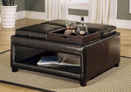 Modern Wood Coffee Table Reclaimed Metal Mid Century Round Natural Diy Padded Large Leather Large Ottoman For Coffee Table Best (View 4 of 10)