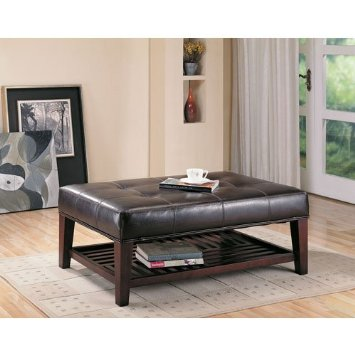 Modern Wood Coffee Table Reclaimed Metal Mid Century Round Natural Diy Padded Large Ottoman Coffee Table With Shelf Detail (Image 9 of 10)