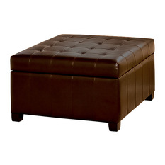 Modern Wood Coffee Table Reclaimed Metal Mid Century Round Natural Diy Padded Large Ottoman Leather Ottoman Coffee Tables Contemporary Footstools And Ottomans (View 4 of 10)