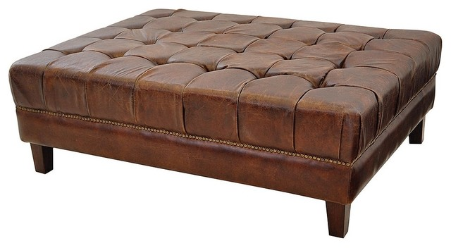 Modern Wood Coffee Table Reclaimed Metal Mid Century Round Natural Diy Padded Large Ottoman Leather Ottoman Coffee Tables (View 3 of 10)