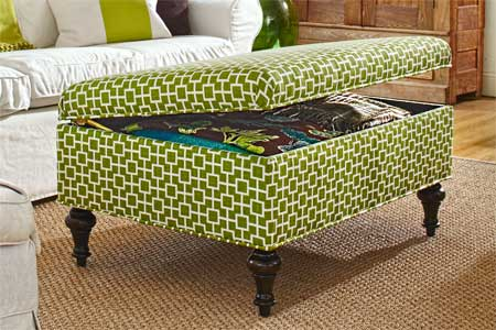 Modern Wood Coffee Table Reclaimed Metal Mid Century Round Natural Diy Padded Large Ottoman Upholstered Storage Ottoman Coffee Table Idea (Image 7 of 10)