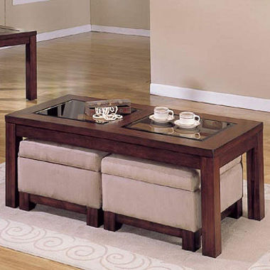Modern-wood-coffee-table-reclaimed-metal-mid-century-round-natural-diy-padded-ottoman-coffee-table-with-storage-idea (Image 8 of 10)
