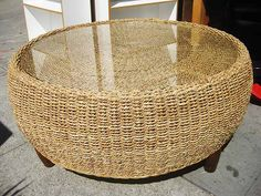 Modern Wood Coffee Table Reclaimed Metal Mid Century Round Natural Diy Padded Wicker Coffee Table Ottoman Best (View 4 of 10)