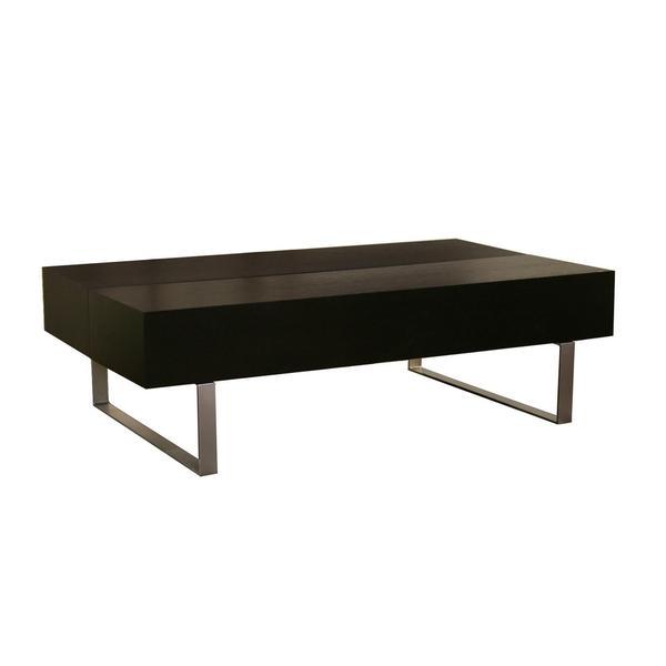 Noemi-Modern-wood-coffee-table-reclaimed-metal-mid-century-round-natural-diy-All-modern-coffee-table-black (Image 10 of 10)