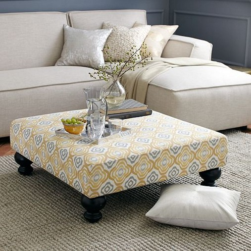 Ottoman Coffee Table Fabric Use The Largest As A Coffee Table Or Group Them For A Graphic Display (Image 7 of 9)