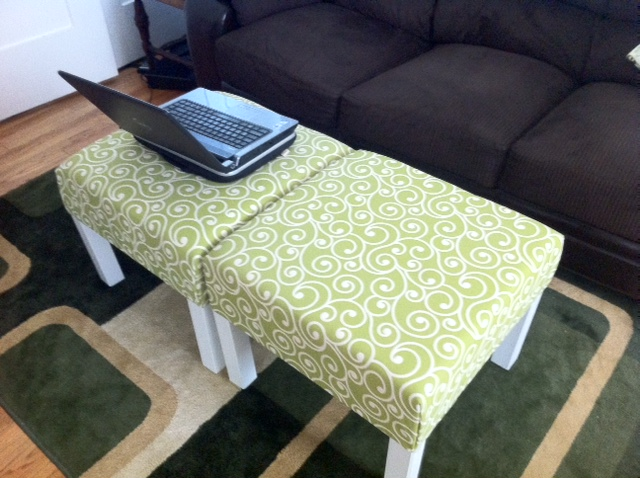 Ottoman Coffee Table Tray Also Glass Material Increases The Space Of All Rooms (View 2 of 9)