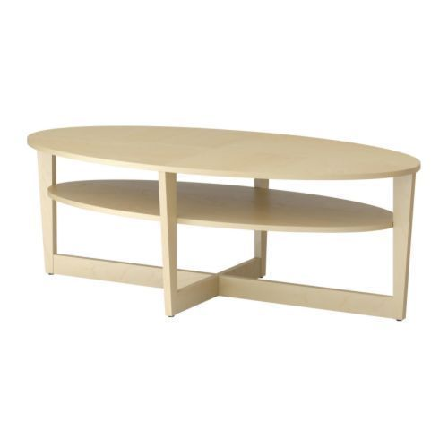 Oval Coffee Table Ikea Ikea Vejmon Coffee Table Oval With Shelf Birch Veneer Different Finish Would Be Great (Image 4 of 9)