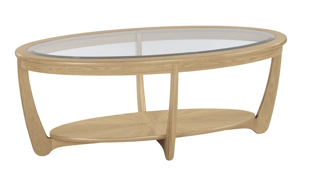 Oval Coffee Table With Glass Top This Circular Washed Tobacco Wood But Also Suspends A Woven Cat Hammock Below So You Furniture Recycled Wood (Image 8 of 10)