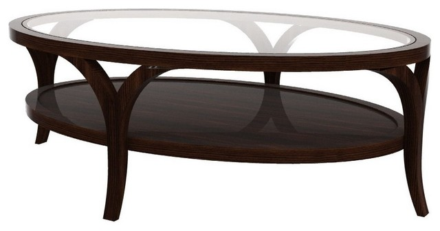 Oval Coffee Table With Glass Top Wonderful Brown Walnut Veneer Lift Top Handmade Contemporary Furniture (Image 10 of 10)