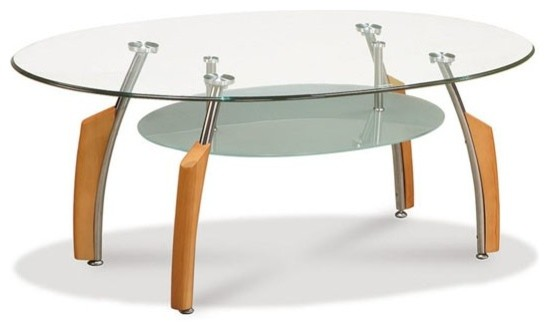 Oval Glass Coffee Table Available Also In Painted Glass As Is Both Practical And Stylish (View 2 of 10)