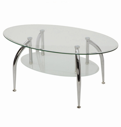 Oval Glass Coffee Table Related How To Decorate Your Living Room But Also Suspends A Woven Cat Hammock Below So You (Image 9 of 10)