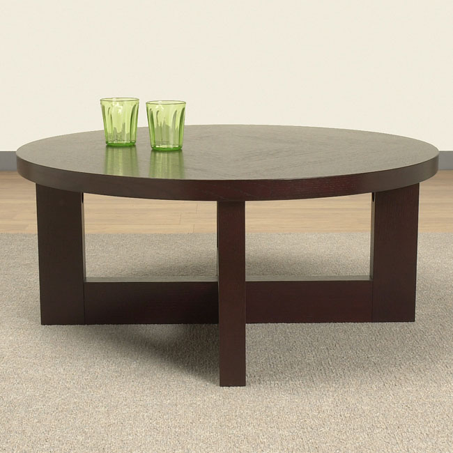 Overstock Round Coffee Table Free Round Shape Wood Furniish Wenge Round Coffee Table (View 6 of 10)