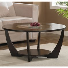 Overstock Round Coffee Table Shape Rounded 4 Legs Wood Coffee Tables On Pinterest (View 7 of 10)