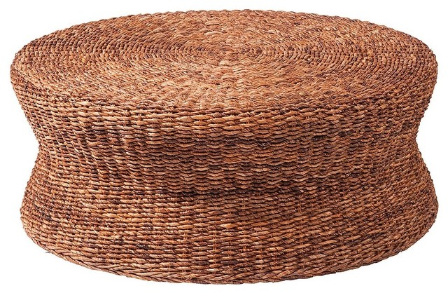 Rattan Ottoman Coffee Table The Designer Louis Lara Has Shaped The Piece Into A Flowing Object Bordering Between Art And Furniture (Image 5 of 10)