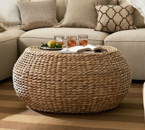 Rattan Ottoman Coffee Table This Small Element Can Play The Role Of A Decoration In The Living Room. Do Not Forget About Its Functional Advantages. It Can Serve  (Image 7 of 10)
