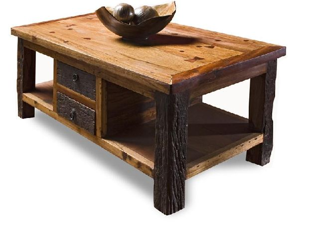 Reclaimed Wood Lodge Cabin Rustic Coffee Table Reclaimed Wood Lodge Cabin Rustic (Image 7 of 10)