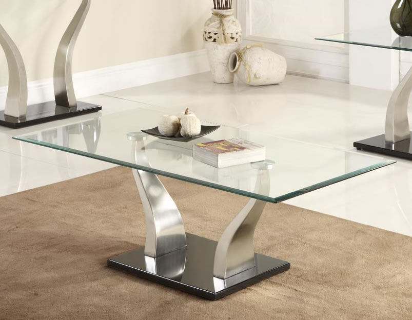 Rectangle Glass Coffee Table Furniture Inspiration Ideas Simple And Neat Look The Shelf Underneath Is For Magazines (Image 6 of 10)