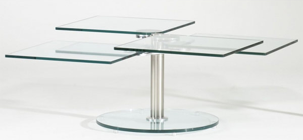 Rotating Glass Coffee Table Incredible Glass Top Table Designs For You To Enjoy Your Coffee (View 5 of 9)
