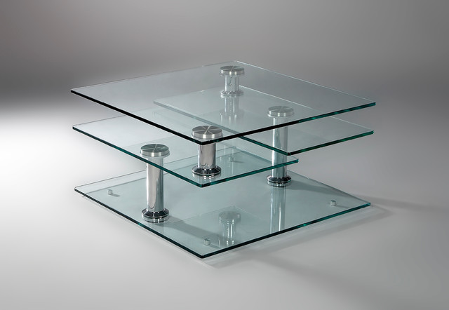 Rotating Glass Coffee Table The Possibilities Are Endless With These Versatile Nesting Tables Of Three Different Sizes (View 6 of 9)