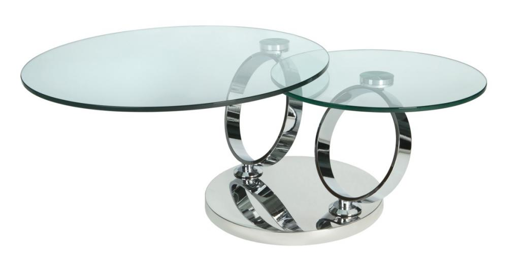 Rotating Glass Coffee Table The Top Features A Grid That Can Also Come With Glass Stone Or Wood (View 7 of 9)