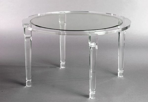 Round Acrylic Coffee Table For Your Living Room Round Lucite Coffee Table Acrylic Round Dining Table (View 7 of 9)