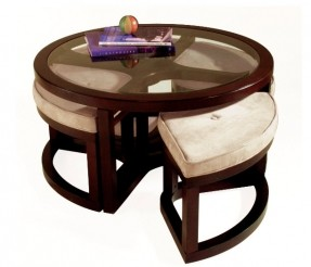 Round Coffee Table With Seating Underneath (View 9 of 10)