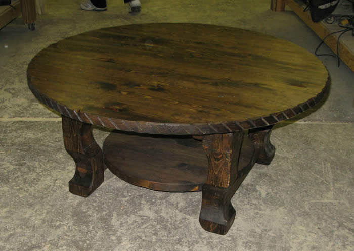 Round Coffee Tables And End Tables Ideas Round Shape Wood Brown Color Furnish Western Coffee Table Round (View 6 of 10)